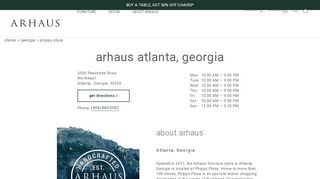 Arhaus Furniture Atlanta